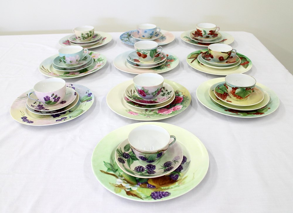 HAND PAINTED LIMOGES PORCELAIN