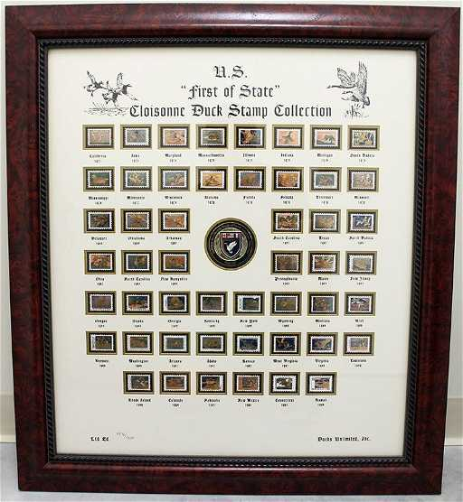 DUCKS UNLIMITED CLOISONNE STAMP COLLECTION See Sold Price