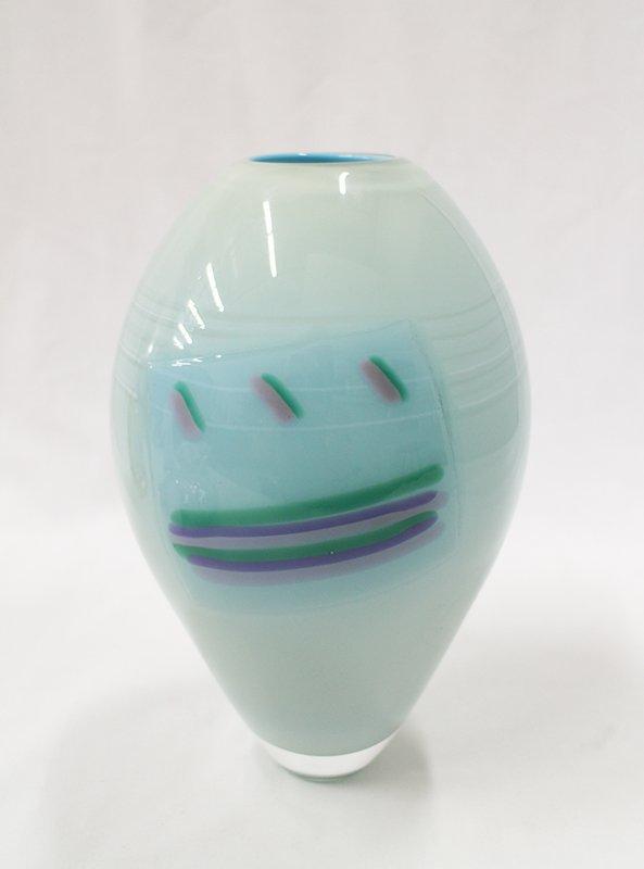 MARK HARTUNG ART GLASS VASE