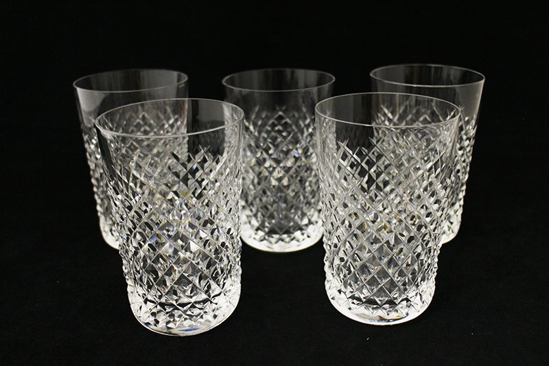 (5) WATERFORD CRYSTAL TUMBLER GLASSES