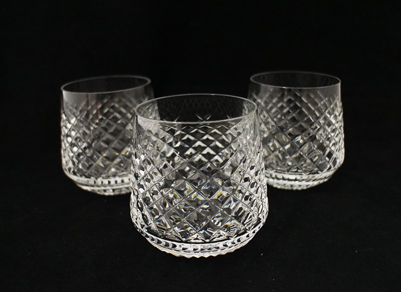 (3) WATERFORD CRYSTAL ROLY POLY GLASSES