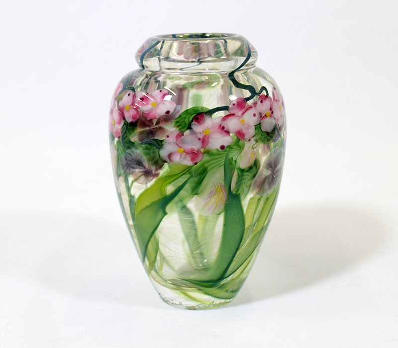DANIEL SALAZAR ART GLASS VASE