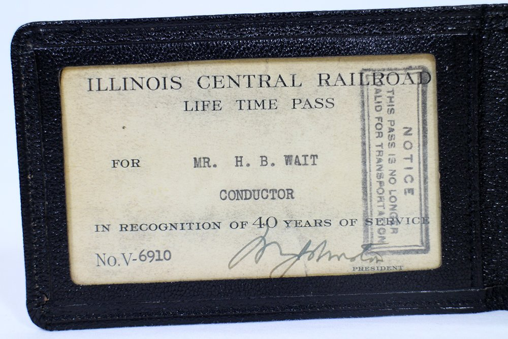 ILLINOIS CENTRAL RAILROAD 14K GOLD CARD & PASS - 5