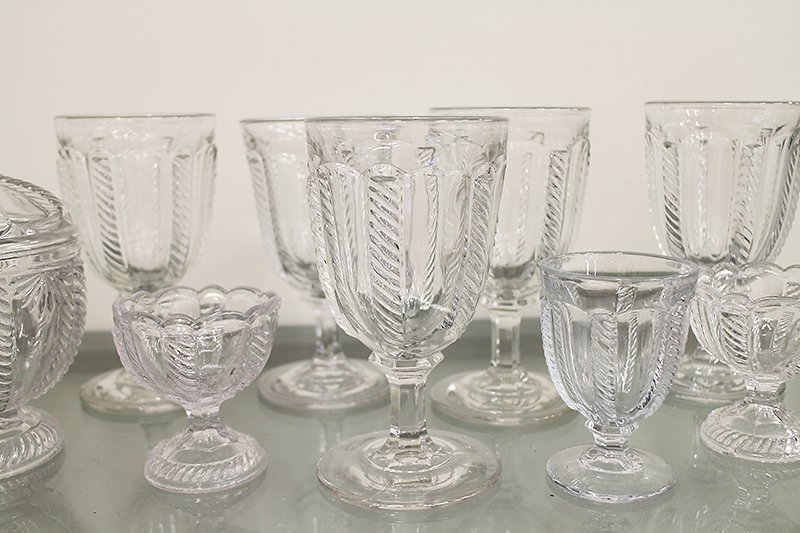 EAPG BOSTON SANDWICH GLASS CABLE PATTERN - 3