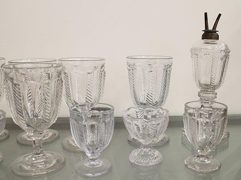 EAPG BOSTON SANDWICH GLASS CABLE PATTERN - 4