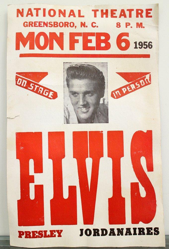 1956 ELVIS CONCERT POSTER