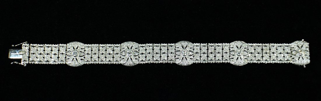 18K 4.09 TCW DIAMOND TENNIS BRACELET