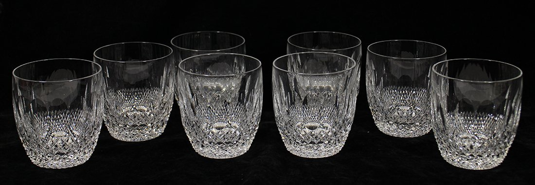 (8) WATERFORD CRYSTAL OLD FASHIONED GLASSES