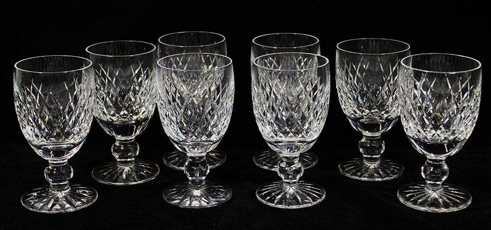 (8) WATERFORD CRYSTAL BOYNE WINE GLASSES