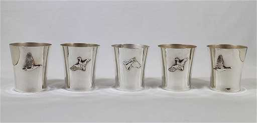 5 Silver Mint Julep Cups Thomas D Wilson