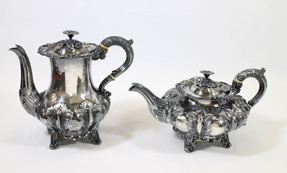 19TH CENTURY ENGLISH STERLING TEA & COFFEE SET