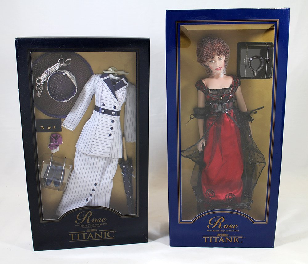 """FRANKLIN MINT 16"""" ROSE TITANIC DOLL & OUTFIT"""