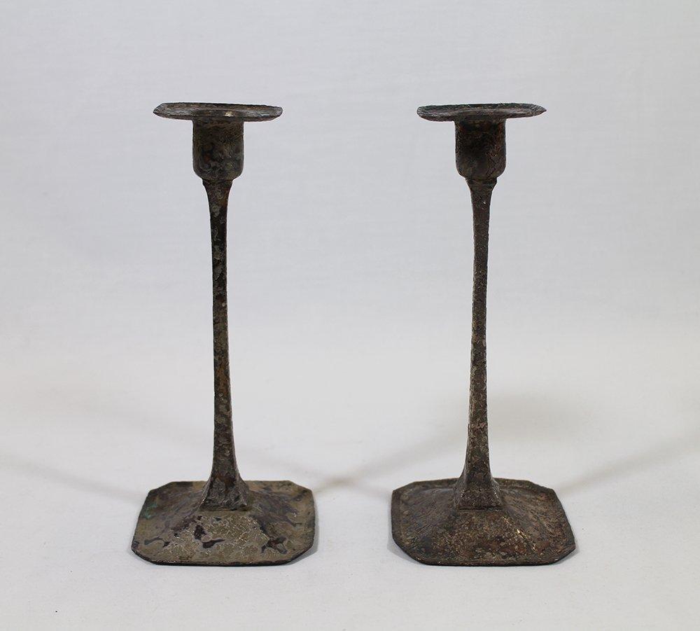 1920's ROYCROFT CANDLESTICKS