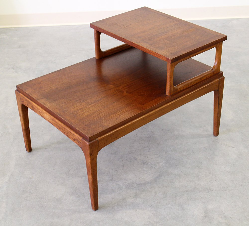 CENTURY MODERN LANE TWO TIER SIDE STEP TABLE