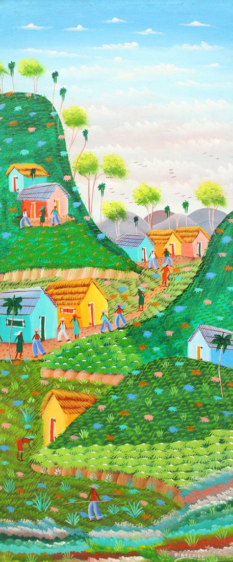 ANDRE NAZAIRE HAITIAN PAINTING