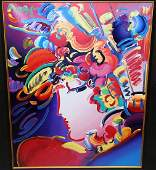 """PETER MAX """"BLUSHING BEAUTY"""" PAINTING"""