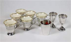 STERLING LENOX DEMITASSE SET  BARWARE