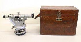 Vintage Keuffel & Esser Transit Surveyor In Box