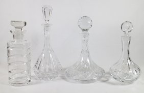 (4) Crystal Decanters