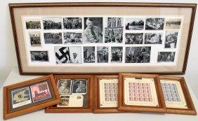 Framed Wwii Hitler Memorabilia