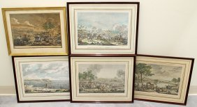 (5) 20th Century French Battle Etchings