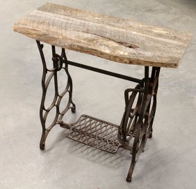 Sewing Table With Barnwood Top