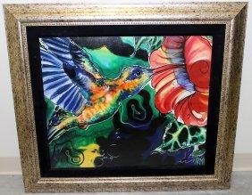Tropical Framed Bird Print