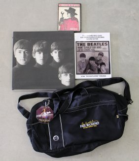 Beatles Books & Paul Mccartney Tour Bag