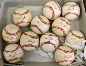 (11) Signed Davey Johnson Baseballs