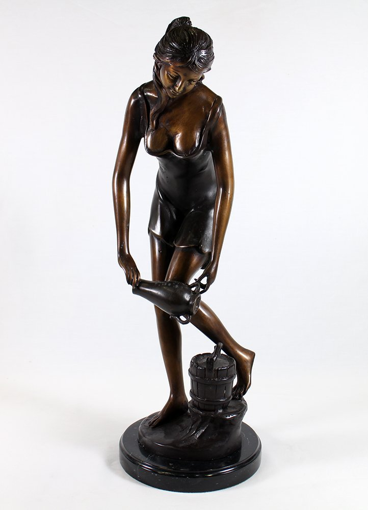 LADY WITH WATER PITCHER BRONZE