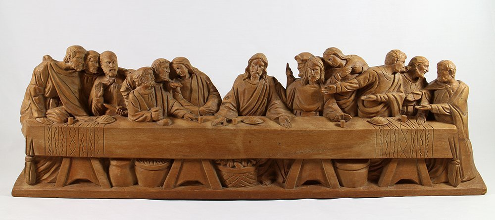 THE LAST SUPPER WOOD CARVING