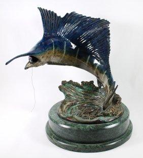 Duane Scott Bronze Sailfish Sculpture