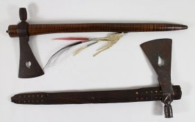 (2) Native American Tomahawks