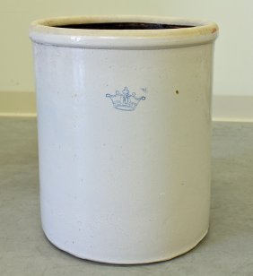 10 Gallon Blue Crown Crock