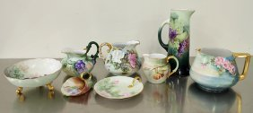 Limoges Pitchers, Tankard, & More