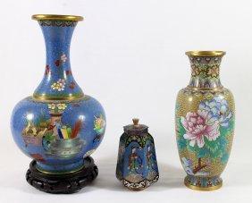 (3) Chinese Cloissone Vases