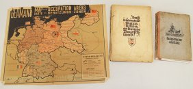 Wwii German Books & Map
