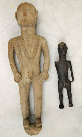 (2) African Wood Statues