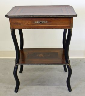 Inlaid Wood Vanity Table