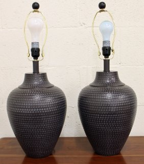 (2) Contemporary Table Lamps