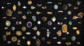 (72) Vintage Costume Rings