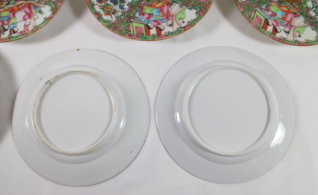 (10) 19TH CENT. CHINESE ROSE MEDALLION PLATES - 4