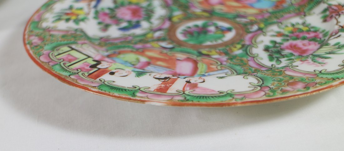 (10) 19TH CENT. CHINESE ROSE MEDALLION PLATES - 5