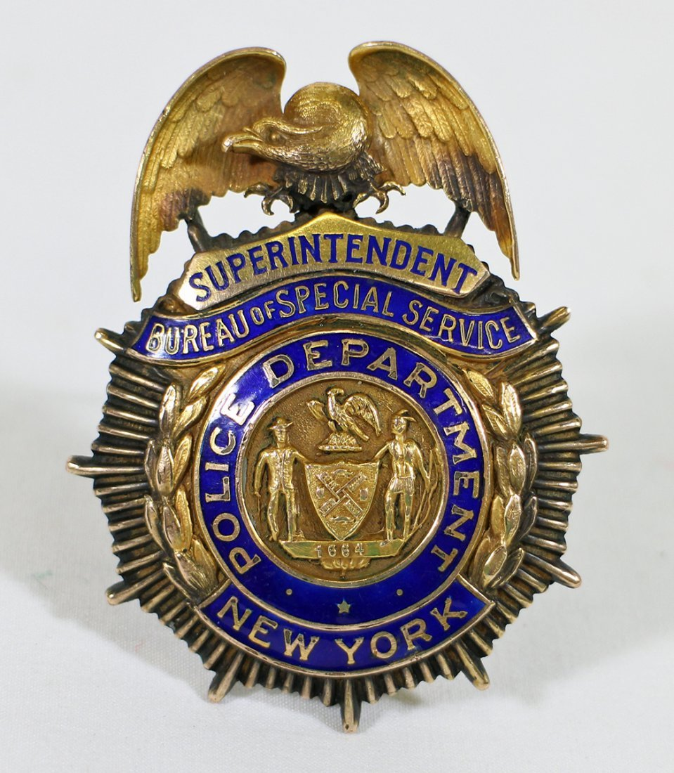 VINTAGE NEW YORK POLICE SUPERINTENDENT BADGE