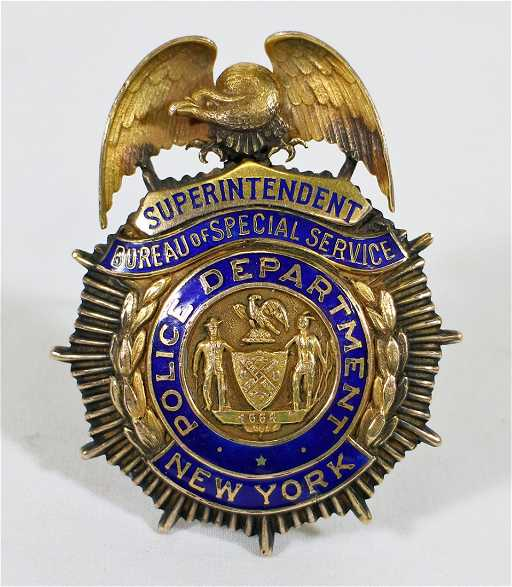Vintage New York Police Superintendent Badge