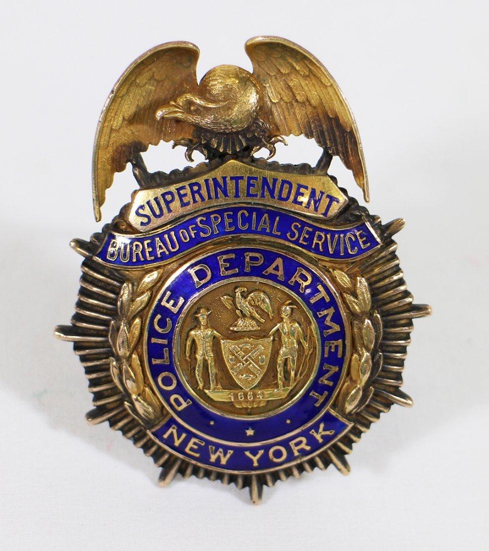 VINTAGE NEW YORK POLICE SUPERINTENDENT BADGE - 2