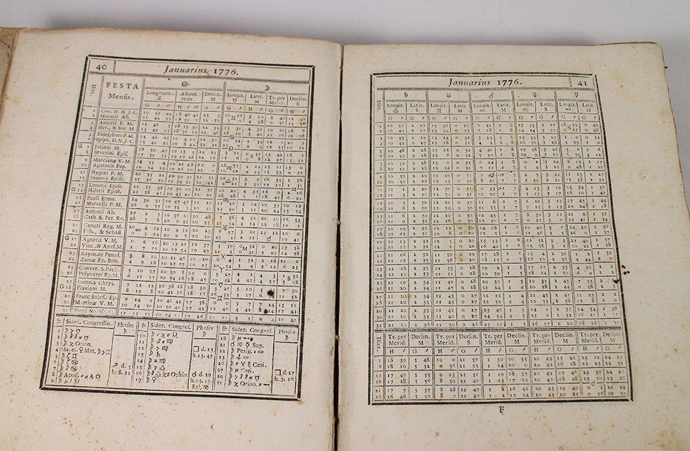 18TH CENTURY ASTRONOMY FORMULA BOOK - 4