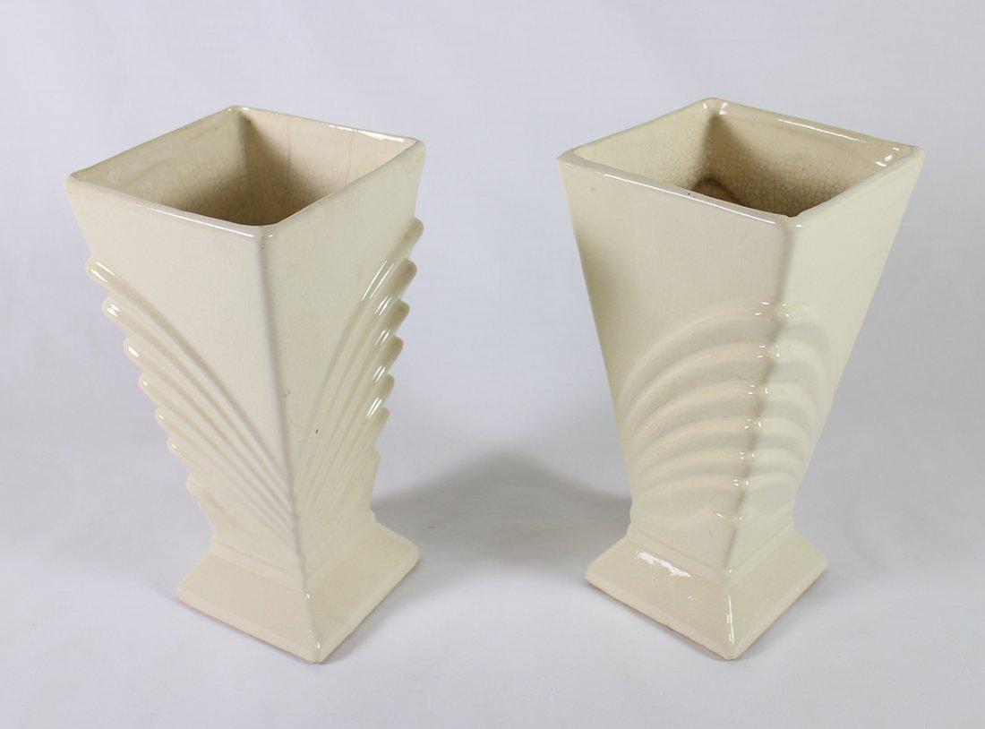 (2) ART DECO MCCOY VASES - 2