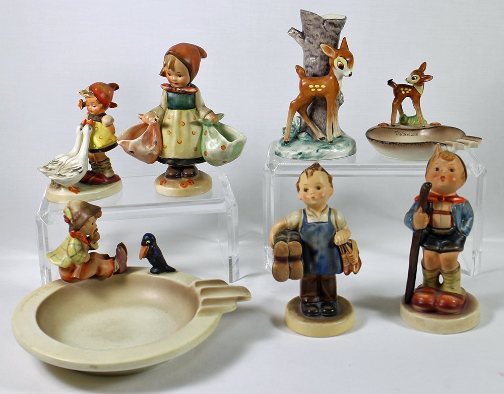 (7) EARLY GOEBEL HUMMEL FIGURINES