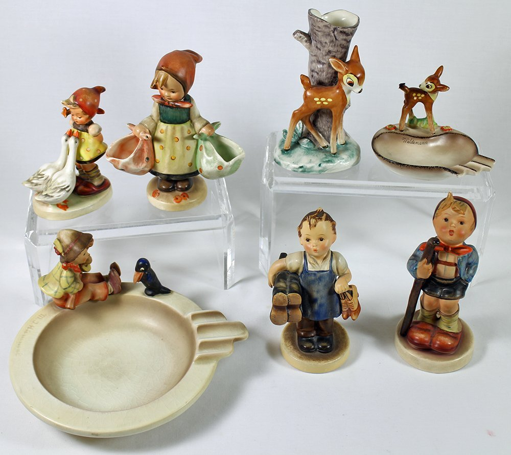 (7) EARLY GOEBEL HUMMEL FIGURINES - 2